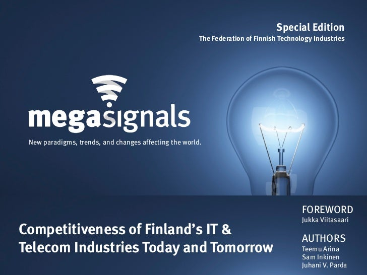 Megasignals: Competitiveness of Finland's IT & Telecom Industries Today and Tomorrow (Issue 3)