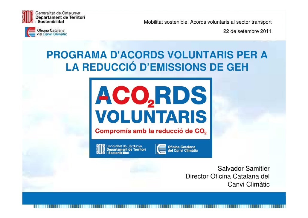 Acords voluntaris al sector transport - Salvador Samitier