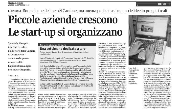Ticino: Giornata dell'innovazione 2011