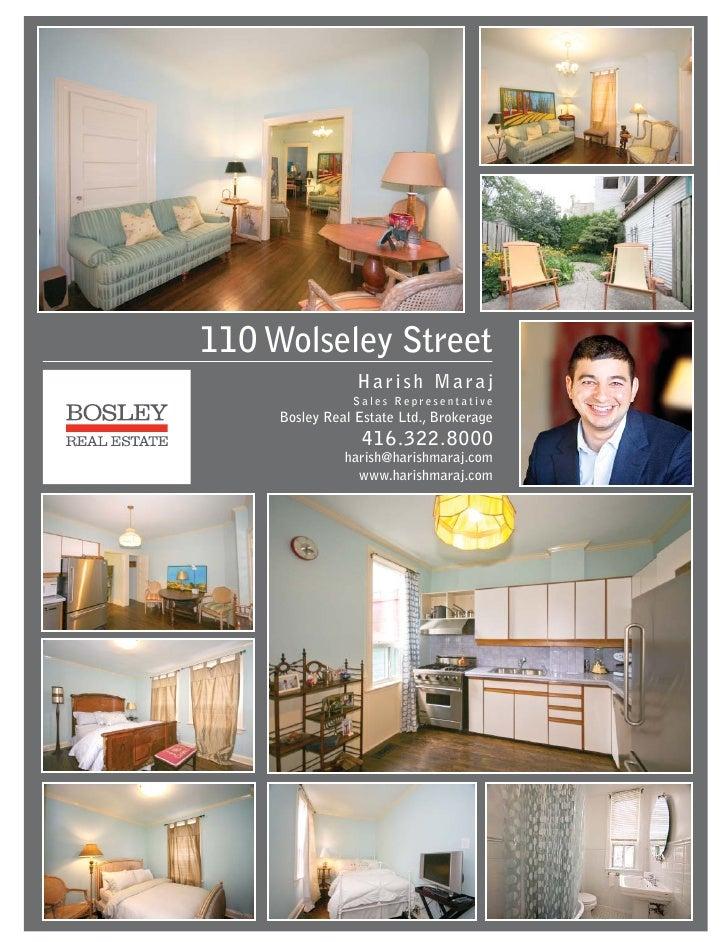 110 Wolseley Street Toronto Feature Sheet