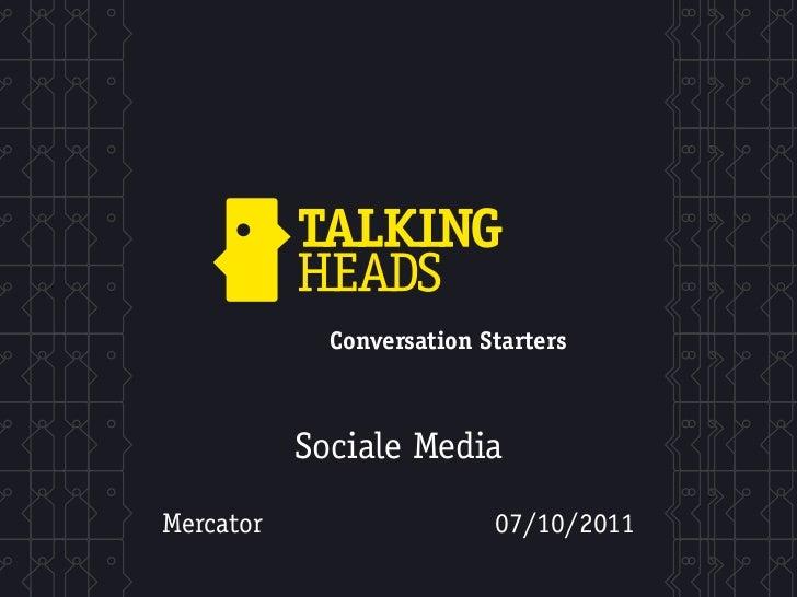 """Mercator: """"Sociale media in marketing: ervaringen uit de praktijk"""""""