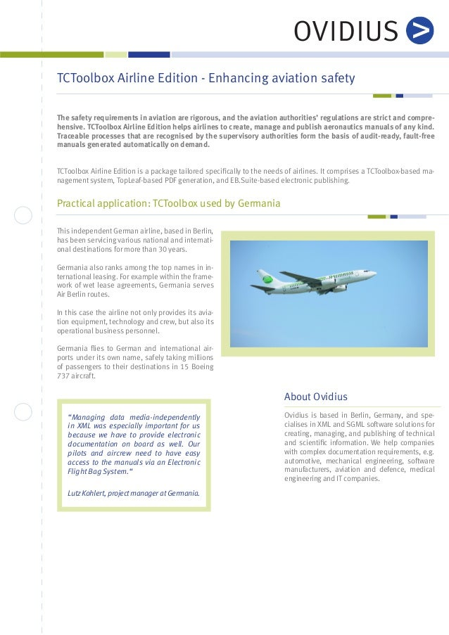 TCToolbox Airline Edition - Enhancing aviation safety The safety requirements in aviation are rigorous, and the aviation a...