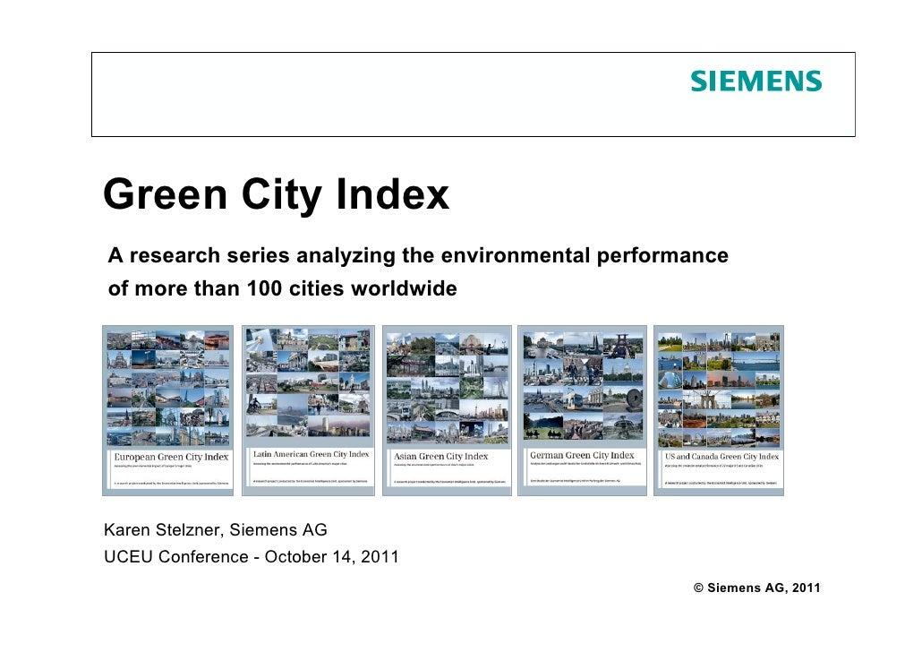 UCEU Vilnius - Green City Index