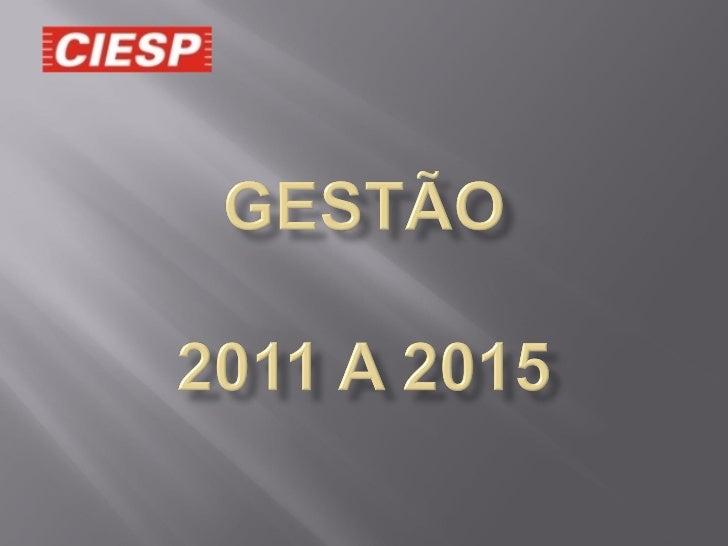 Apresentação da Nova Gestão 2011/2015