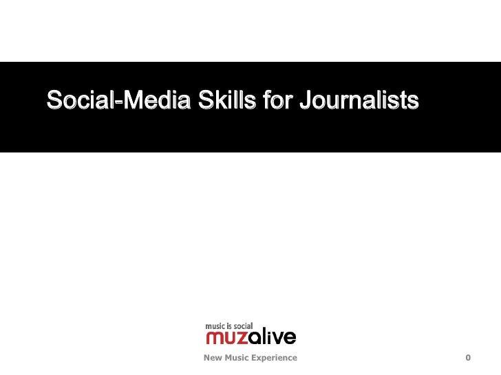 기자들을 위한 소셜미디어 활용 방식