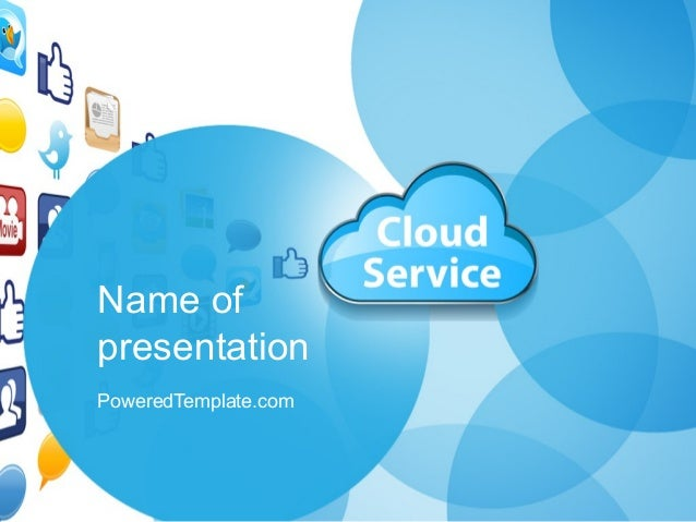 cloud service powerpoint template