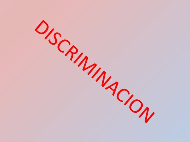 discriminacion sexual