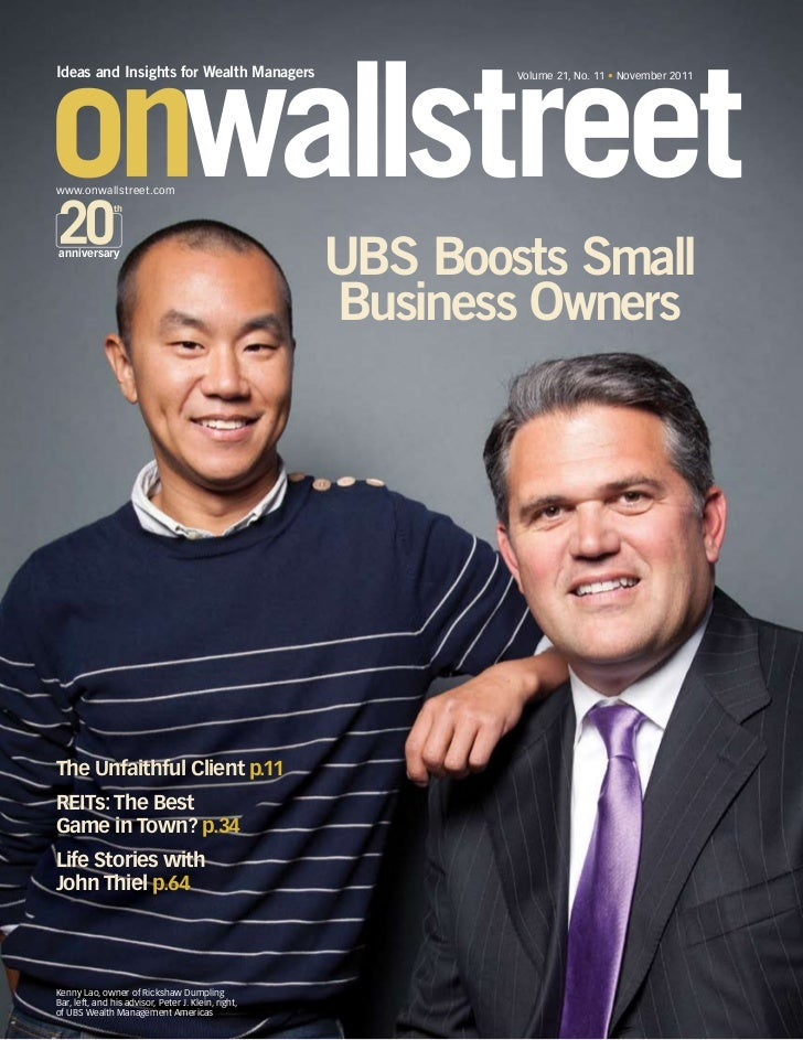 Ideas and Insights for Wealth Managers                       Volume 21, No. 11 • November 2011www.onwallstreet.com        ...