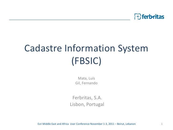 Cadastre Information System           (FBSIC)                                 Mata, Luís                                Gi...