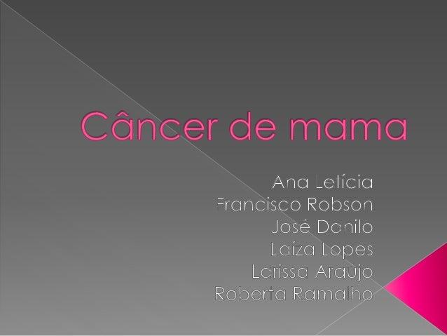 Câncer é uma doença que têm em comum o  crescimento desordenado (maligno) de células que  invadem os tecidos e órgãos, pod...