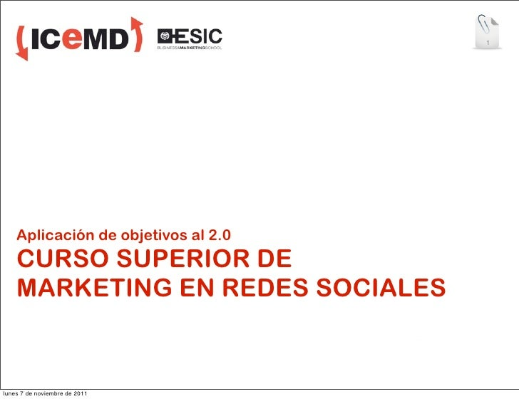 Aplicación de los objetivos del Social Media Marketing