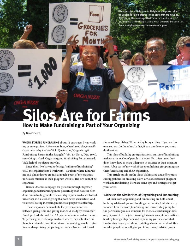 All-Staff Fundraising - Silos are for Farms Article