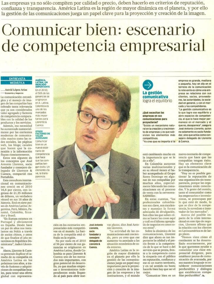 Portafolio. Entrevista a José Antonio Llorente
