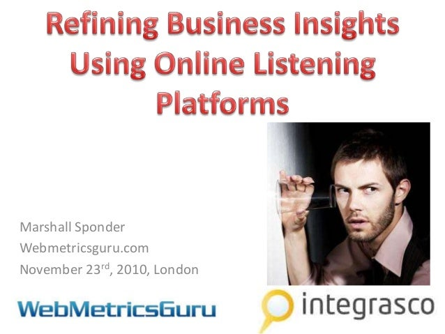 11111 finding the right answer using social media monitoring   integrasco event nov 23rd london-final