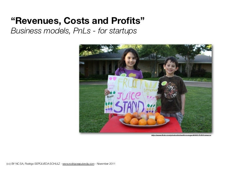 """""""Revenues, Costs and Profits""""   Business models, PnLs - for startups                                                       ..."""