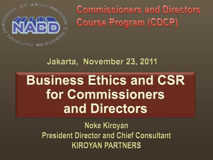 PREVIOUS ASSIGNMENTS                     NOKE KIROYAN – President Director & Chief Consultant,                     Kiroyan...