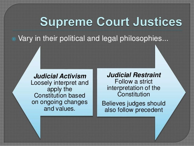 the difference between judicial activism and judicial restraint