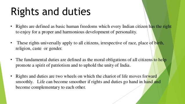 essay on fundamental rights and duties