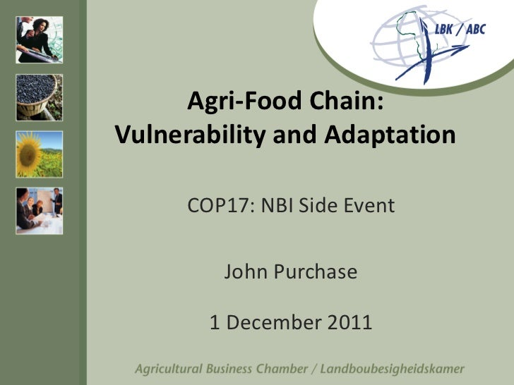 Agri-Food Chain - Valnerability and Adaption