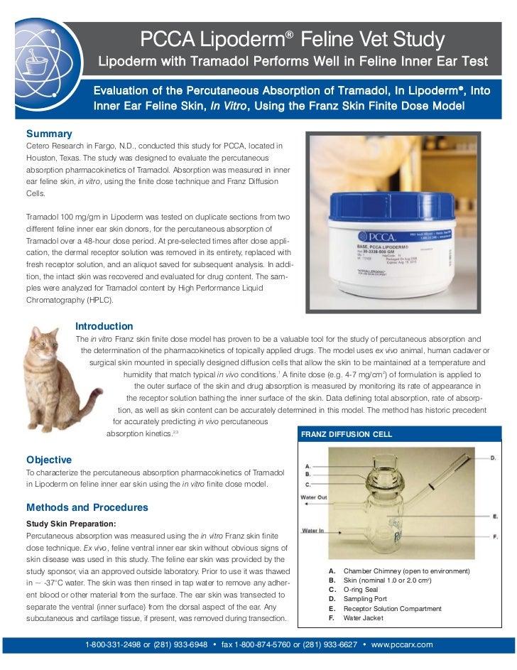 PCCA Lipoderm® Feline Vet Study                     Lipoderm with Tramadol Performs Well in Feline Inner Ear Test         ...