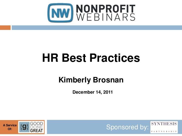 HR Best Practices
