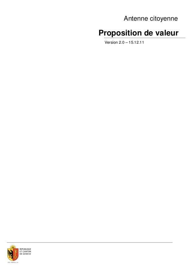 Antenne citoyenneProposition de valeur Version 2.0 – 15.12.11