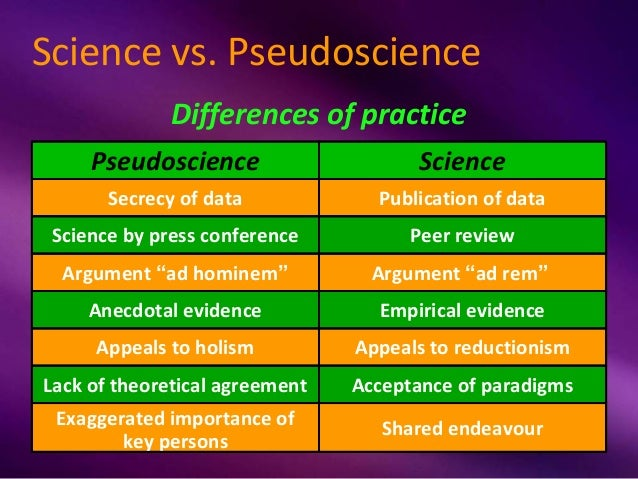 pseudoscience vs science essay