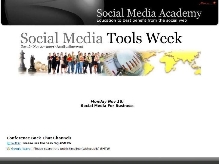 Social Media Tools Week - Day 1