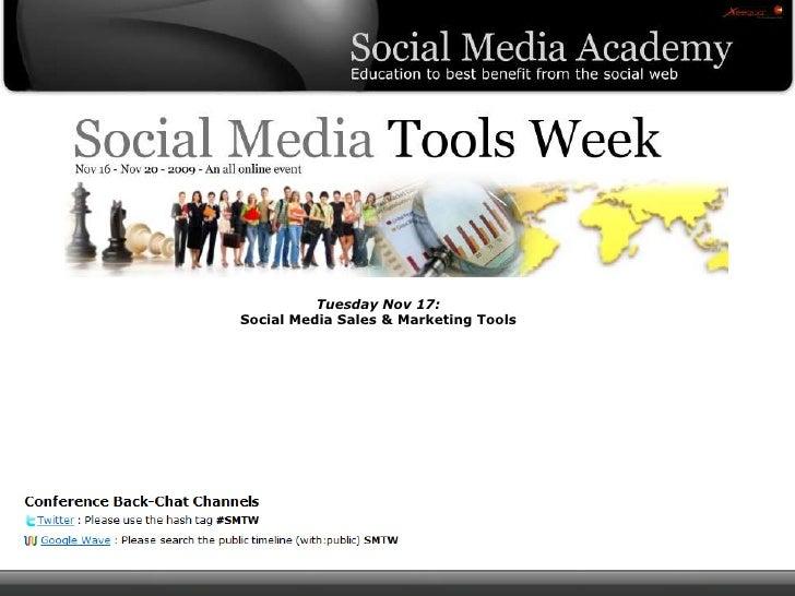 Tuesday Nov 17:Social Media Sales & Marketing Tools<br />