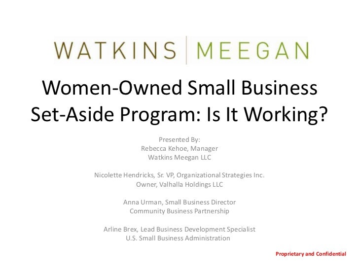 Women-Owned Small Business Set-Aside Program:  Is it Working?