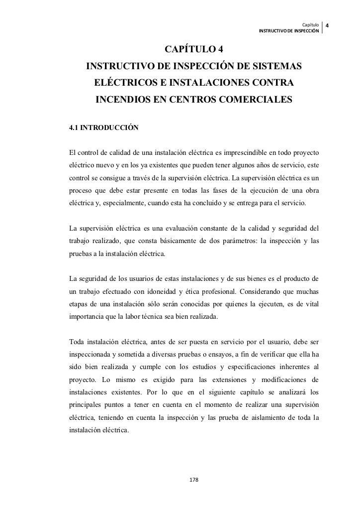 Capítulo   4                                                                  INSTRUCTIVO DE INSPECCIÓN                   ...