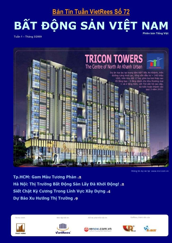 Bản Tin BĐS Việt Nam Số 72 Tuần 1 Tháng 3 Năm 2009