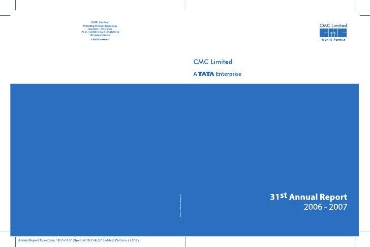 CMC Annual Report 2006-07