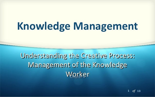 1 of 13Understanding the Creative Process:Understanding the Creative Process:Management of the KnowledgeManagement of the ...
