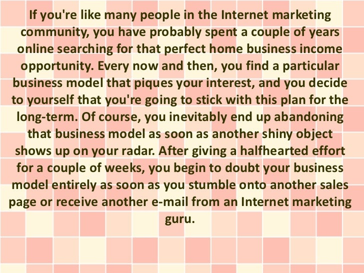 If youre like many people in the Internet marketing   community, you have probably spent a couple of years  online searchi...