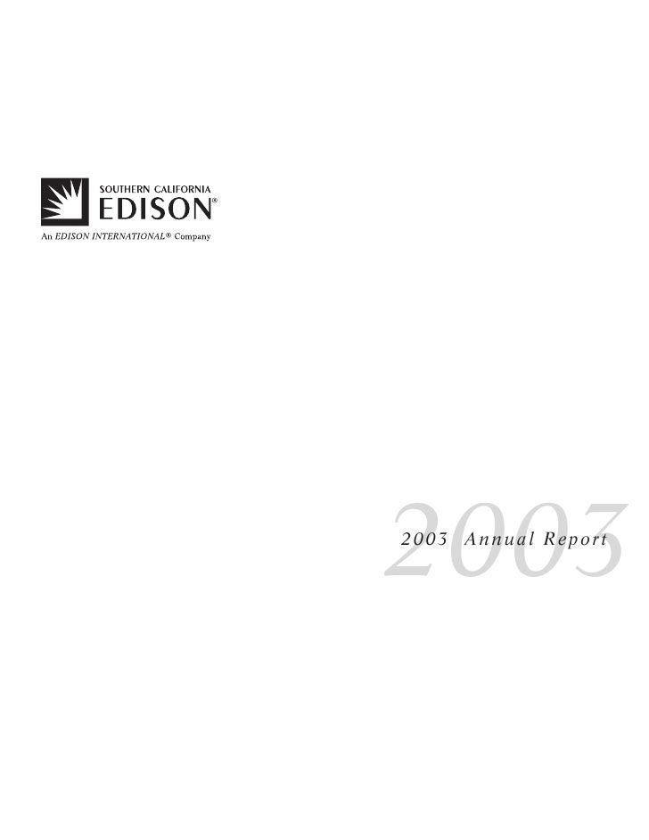 2003 2003 Annual Report