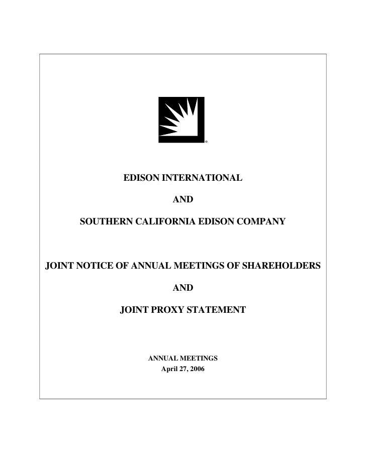 edison international 2006_joint proxy
