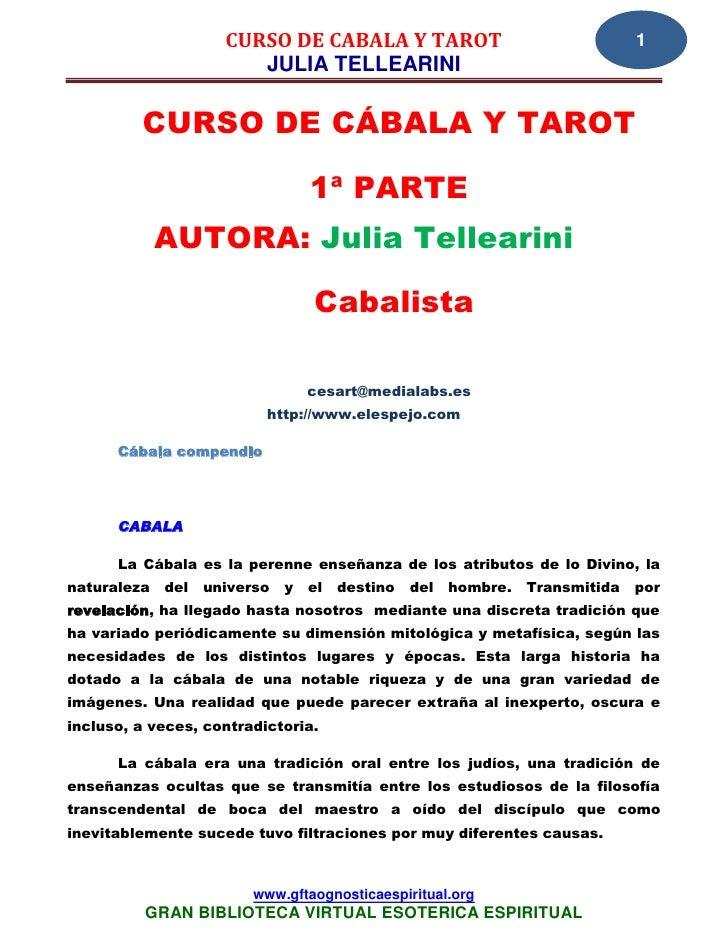 11 23 curso de cabala y tarot tellearini, julia    www.gftaognosticaespiritual.org
