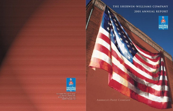 The Sherwin-Williams Company                            2001 ANNUAL REPORT     America's Paint Company
