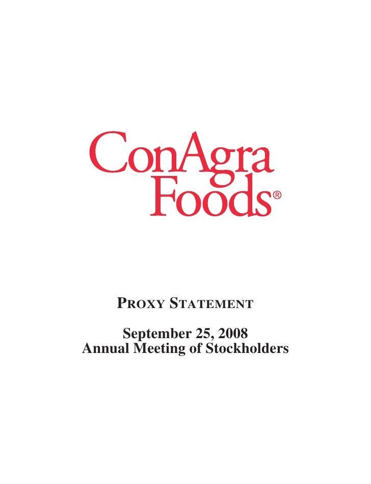 CONAGRA proxy 2008