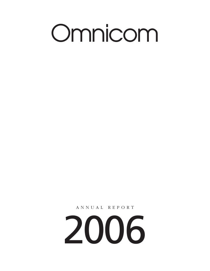 omnicom group annual reports 2006
