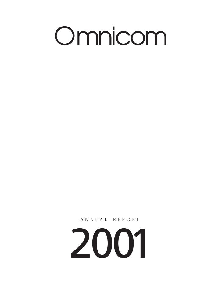 omnicom group annual reports 2001
