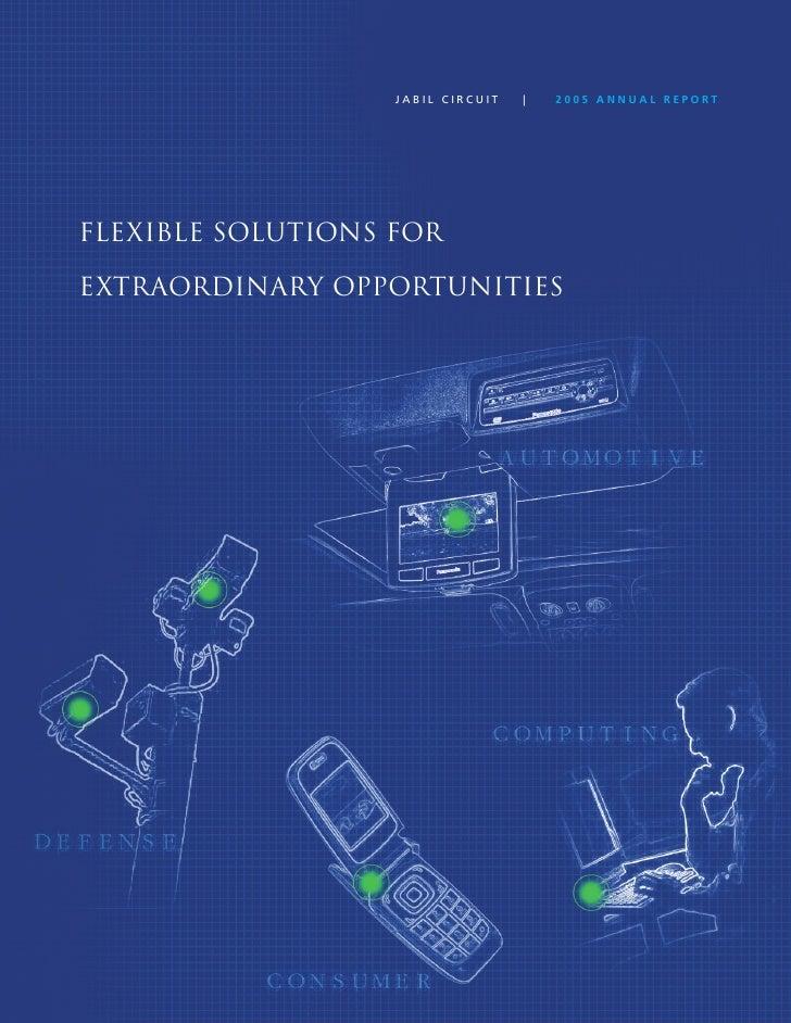 jabil circuit Annual Report 2005