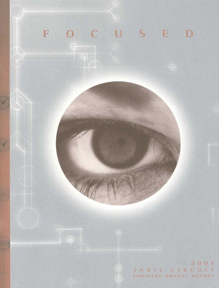 jabil circuit Annual Report 2001