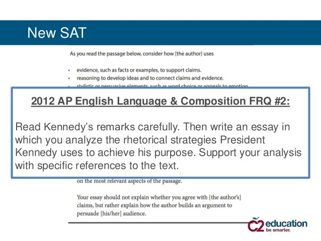 ap english language essay prompts 2012