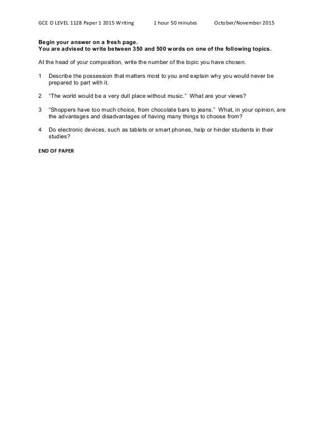 A level english essay