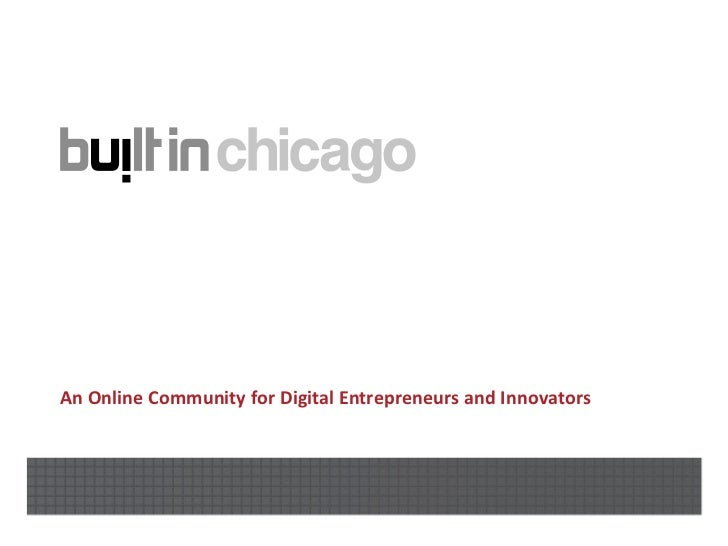 The Digital Technology Startup Ecosystem in Chicago