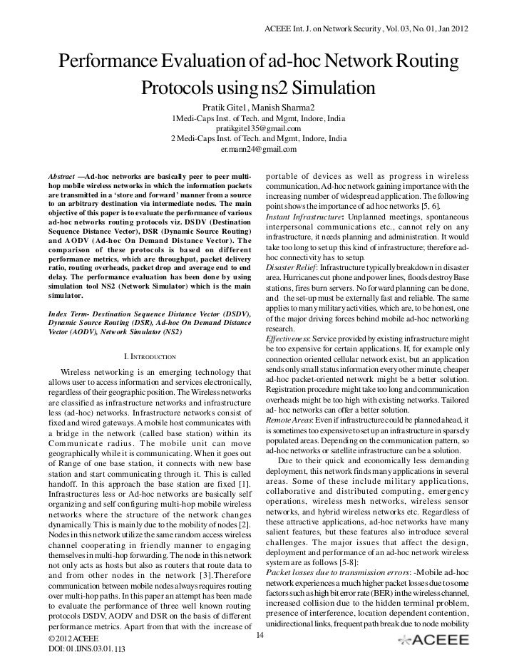 Performance Evaluation of ad-hoc Network Routing Protocols using ns2 Simulation