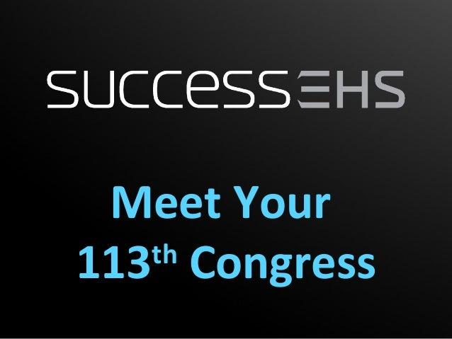 Meet Your 113th Congress