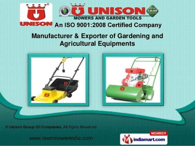 Manufacturer & Exporter of Gardening and        Agricultural Equipments